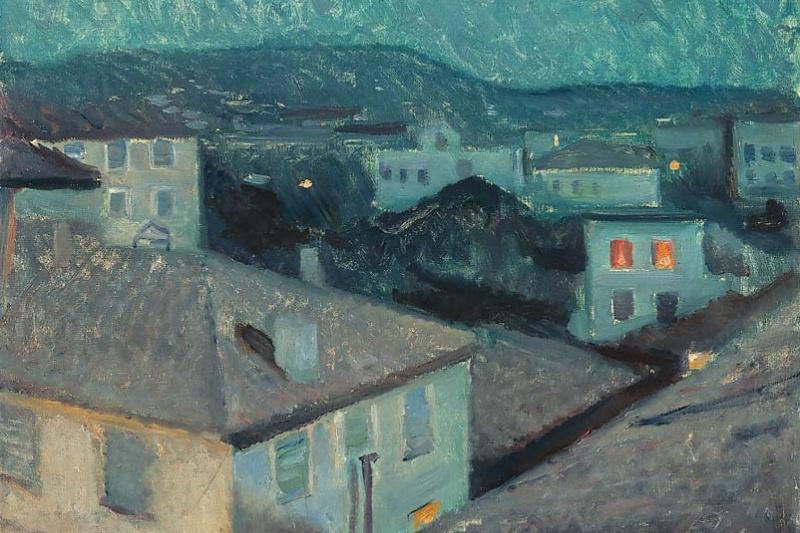 Edvard Munch. Night in Nice