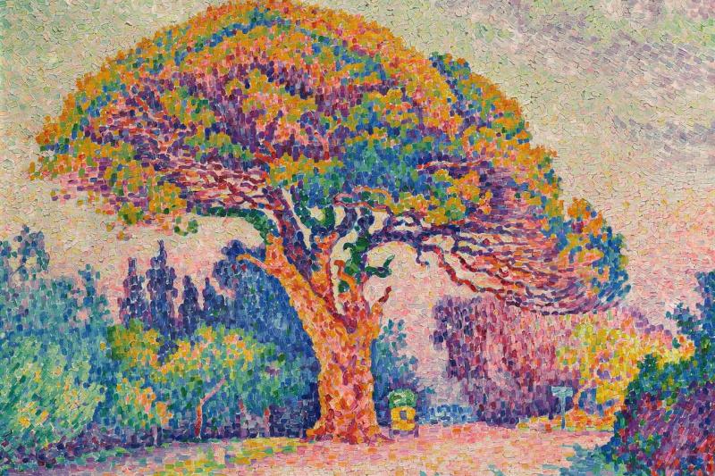 Paul Signac. The Pine Tree at Saint-Tropez