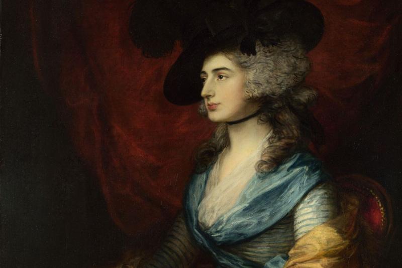 Thomas Gainsborough. Portrait of actress Sarah Siddons