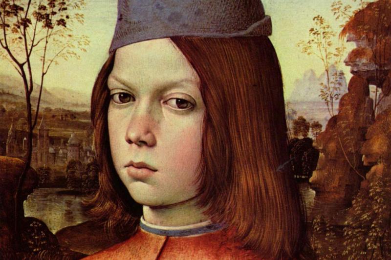 Pinturicchio. Portrait of a boy