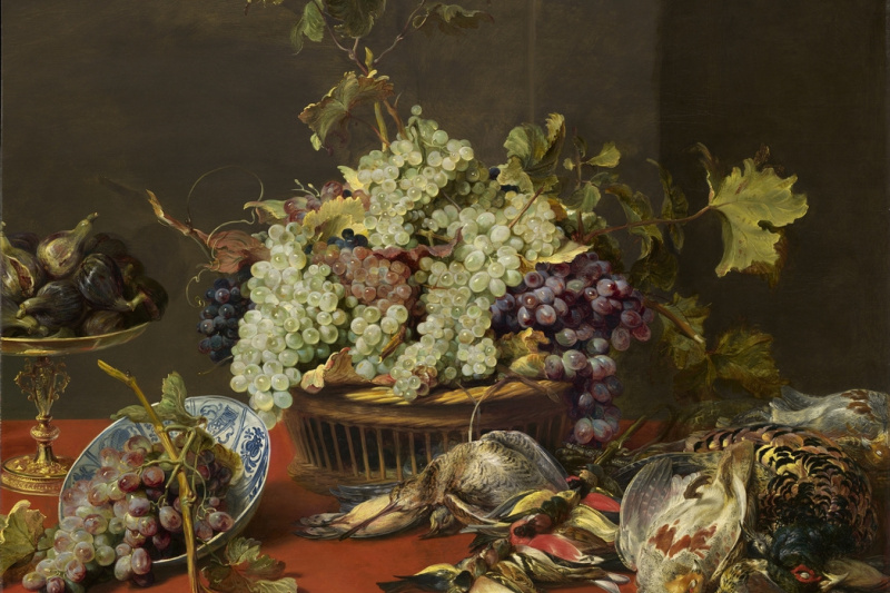 France Snyders. Still life with grapes