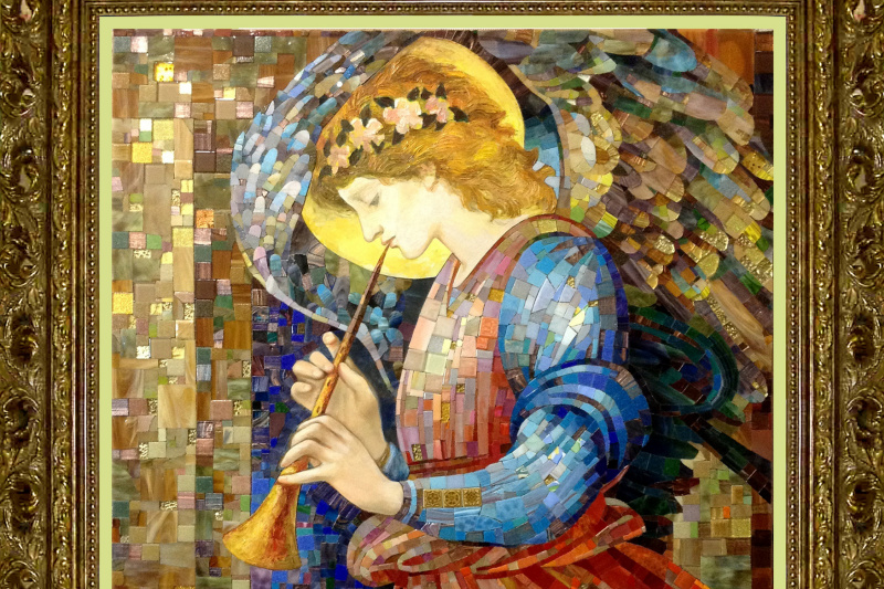 Constantine Socks. Angel with flute