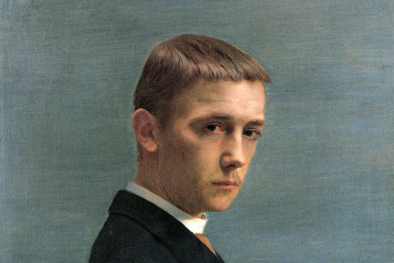 Felix Vallotton. Self portrait at the age of 20