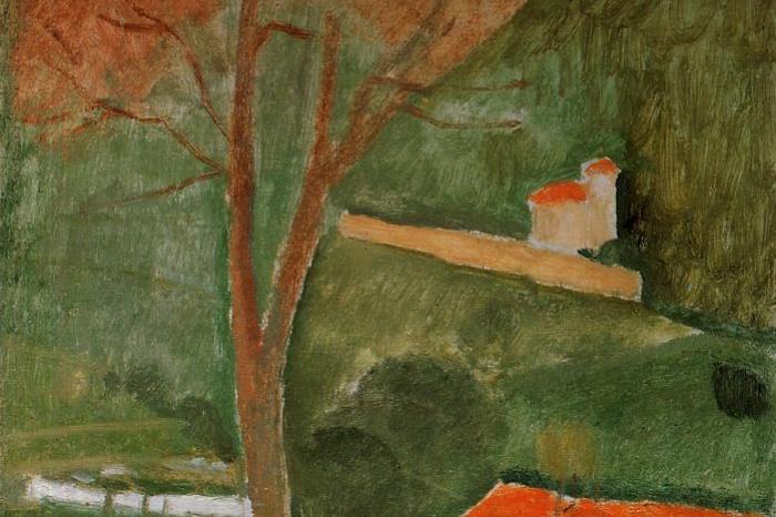 Амедео Модильяни. Пейзаж в Канье