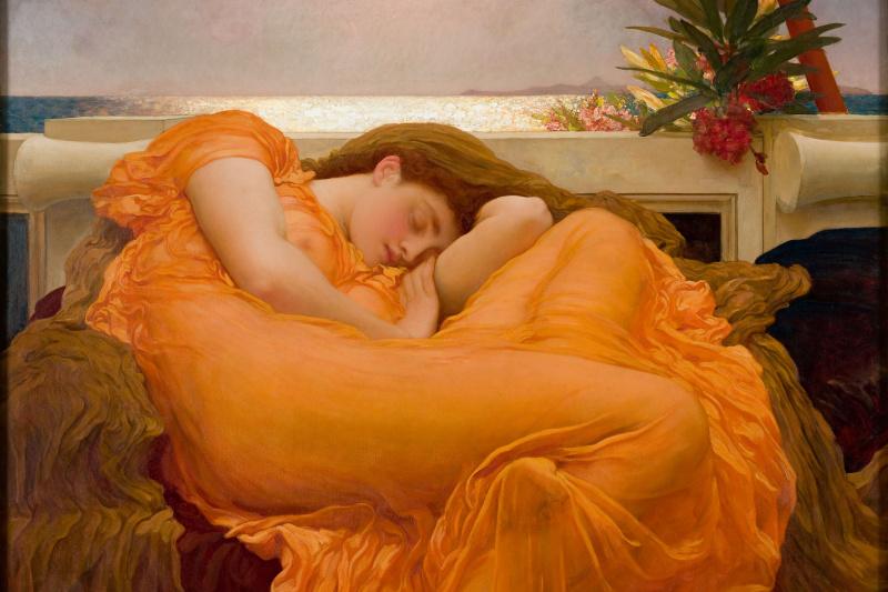 Frederic Leighton. Flaming june
