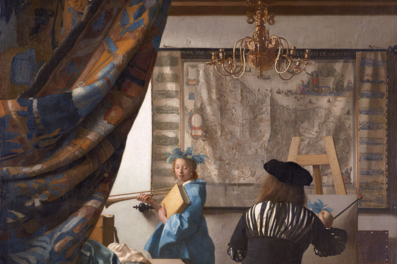 Jan Vermeer. Artist's workshop (Allegory of painting)