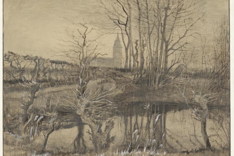 Vincent van Gogh. Landscape with a Kingfisher