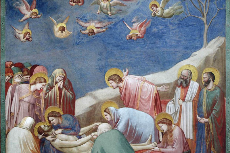 Джотто ди Бондоне. Оплакивание Христа. Сцены из жизни Христа