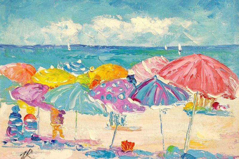 Jose Rodriguez. Summer stories. Multicolored umbrellas