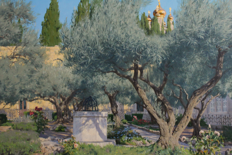 """Artem Yurievich Puchkov. """"Garden of Gethsemane"""" in Jerusalem."""