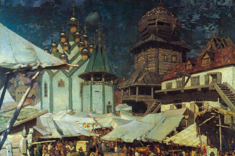 Apollinarius Mikhailovich Vasnetsov. Bazaar