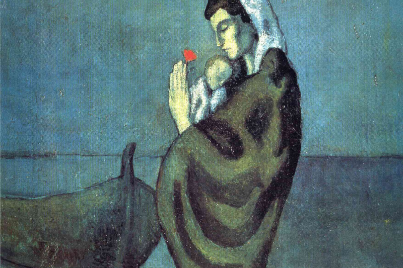 Pablo Picasso. Mother and child on the coast