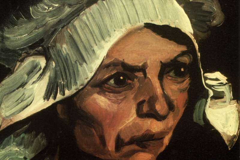 Vincent van Gogh. Peasant woman with white cap (option)