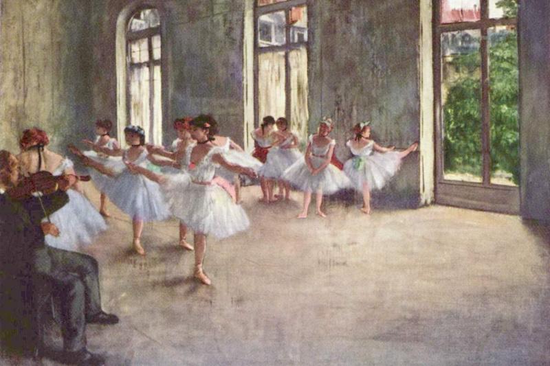 Edgar Degas. Ballet rehearsal