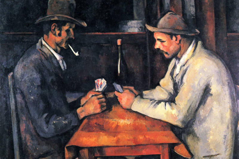 Paul Cezanne. The card players