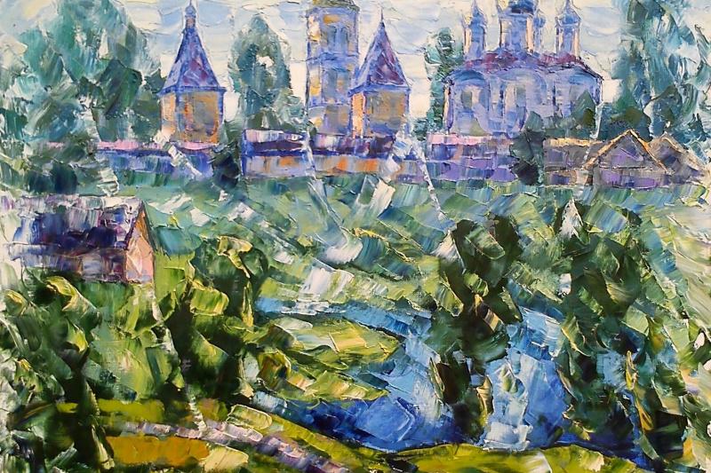 Alexey Ivanovich Gladkikh. Temple at long lake