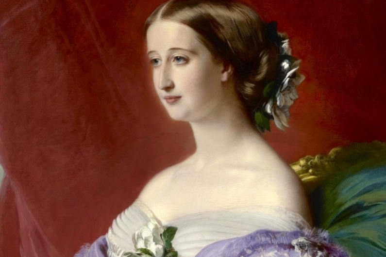 Franz Xaver Winterhalter. The Empress of France Eugenia (Eugenie de Montijo). Fragment
