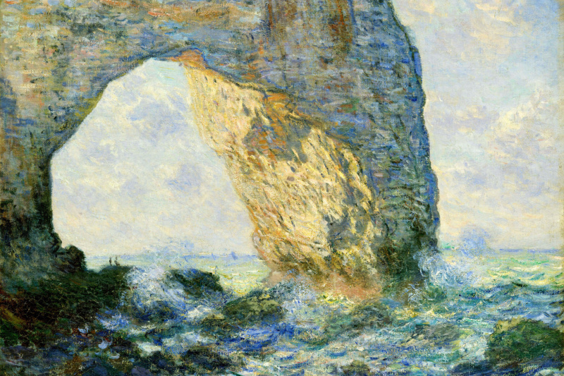 Claude Monet. Arch to the West from Etretat