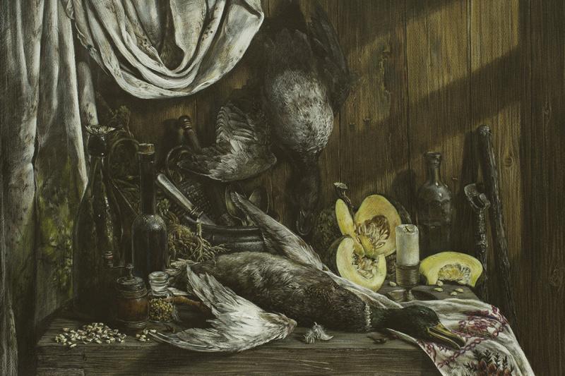 Eugene Borovik. Still life with ducks