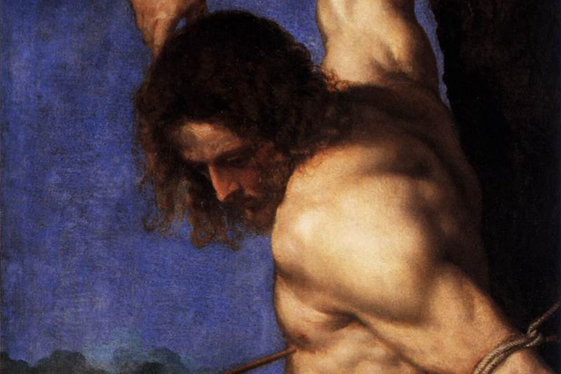 Titian Vecelli. The Altar Of Averoldi. Snippet: Saint Sebastian