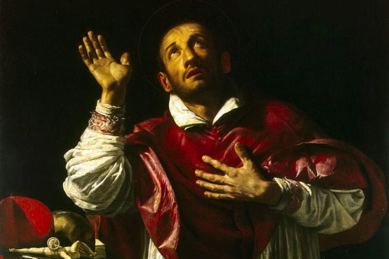 Orazio Borgianni Borgiani. Holy Carl Borromee