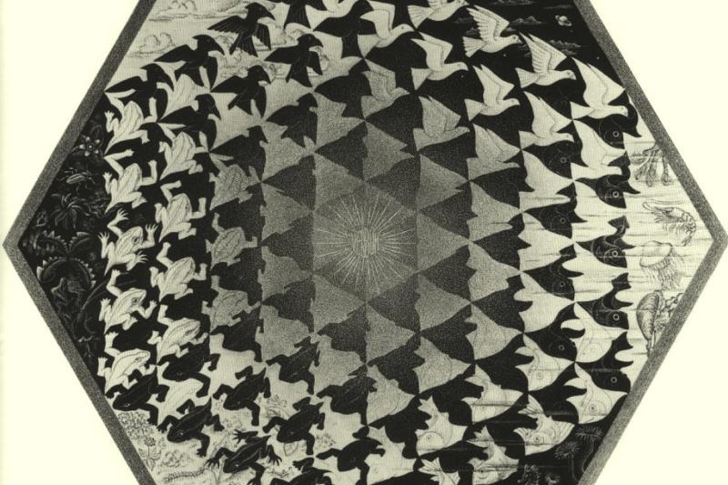 Мауриц Корнелис Эшер. Вербум. Земля, небо и вода