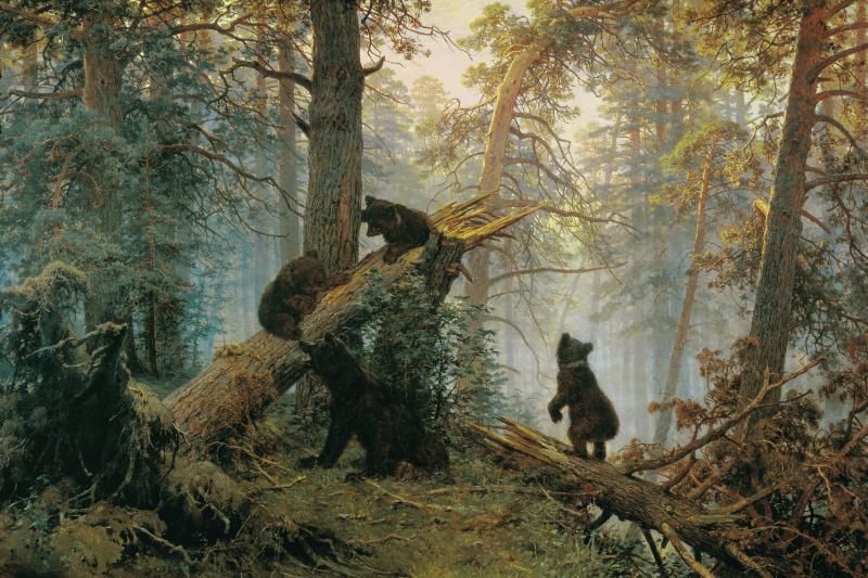 Иван Иванович Шишкин. Утро в сосновом лесу
