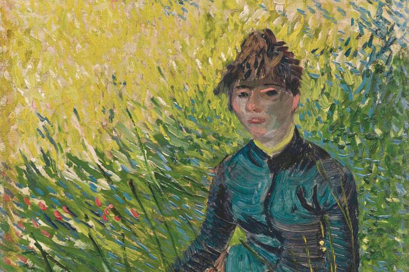 Винсент Ван Гог. Женщина, сидящая на траве