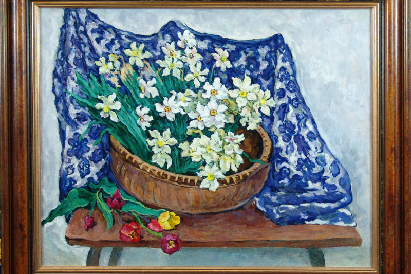 Grigory Alexandrovich Sretensky. Daffodils.1958