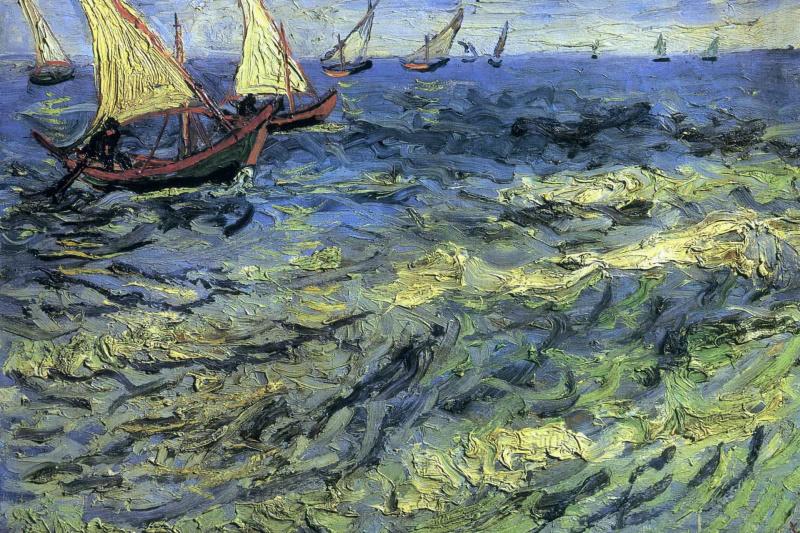 Vincent van Gogh. Seascape at Saintes-Maries (Fishing Boats at Sea)