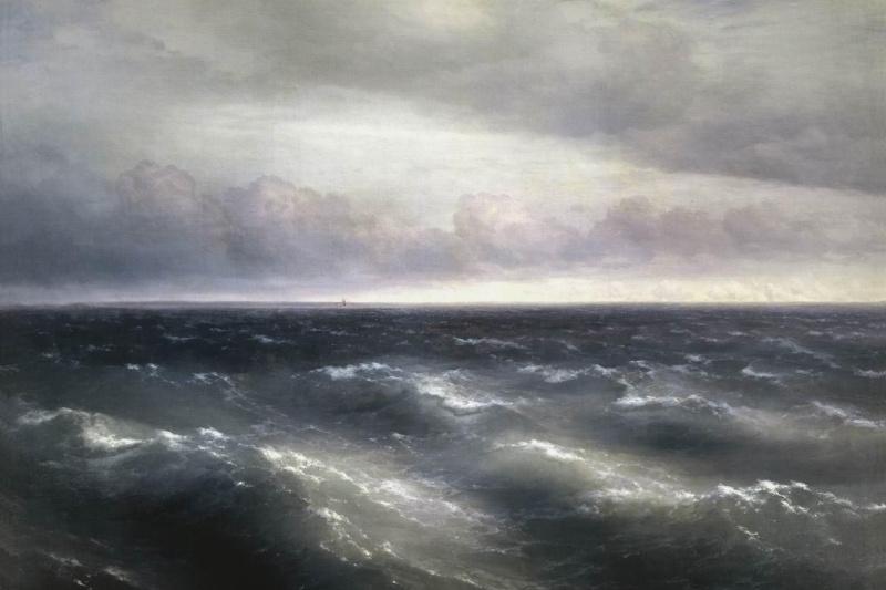 Ivan Aivazovsky. The black sea