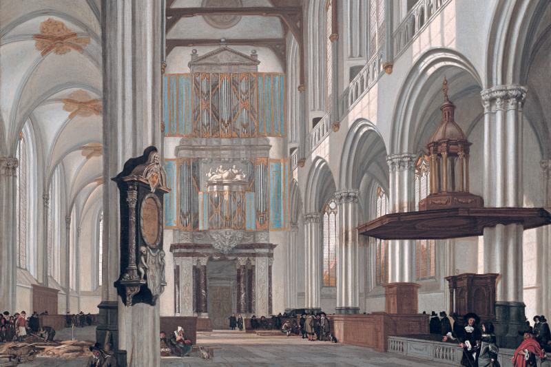 Emmanuel de Witte. The interior of the New Church in Amsterdam