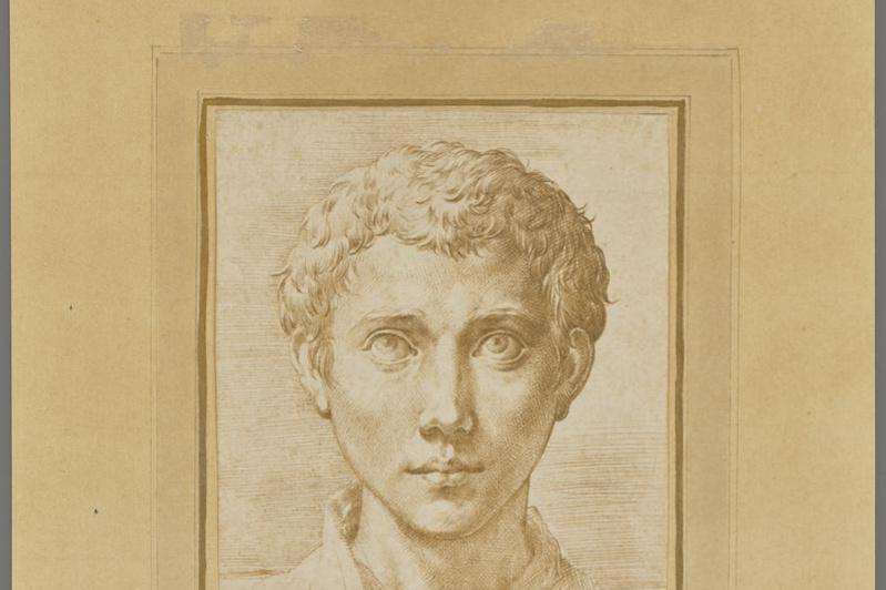 Francesco Parmigianino. Young man's head
