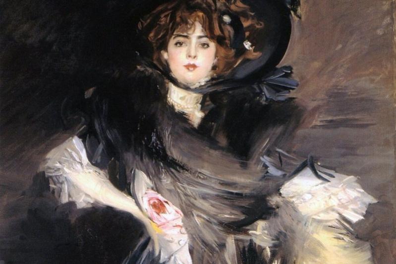 Giovanni Boldini. Portrait of Mademoiselle Lantelme