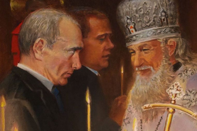 Anatoly Alekseevich Bolkhontsev. In the church