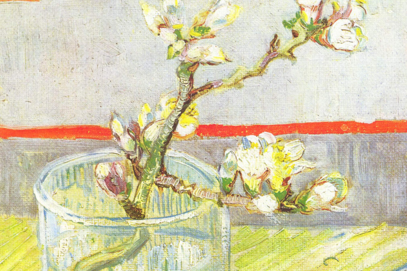 Vincent van Gogh. The branch of a flowering almond