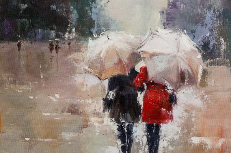 Savely Kamsky. Girlfriends. Walk under the rain