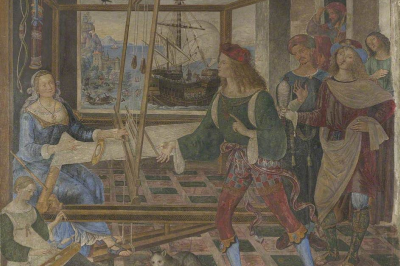 Pinturicchio. The return of Odysseus (Penelope with the suitors)