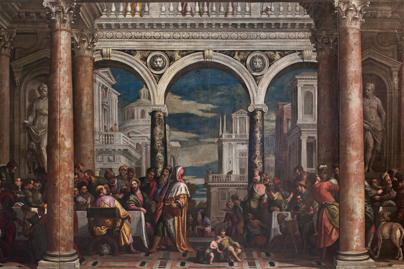 Paolo Veronese. A feast in the house of Levi (after restoration in 2014)