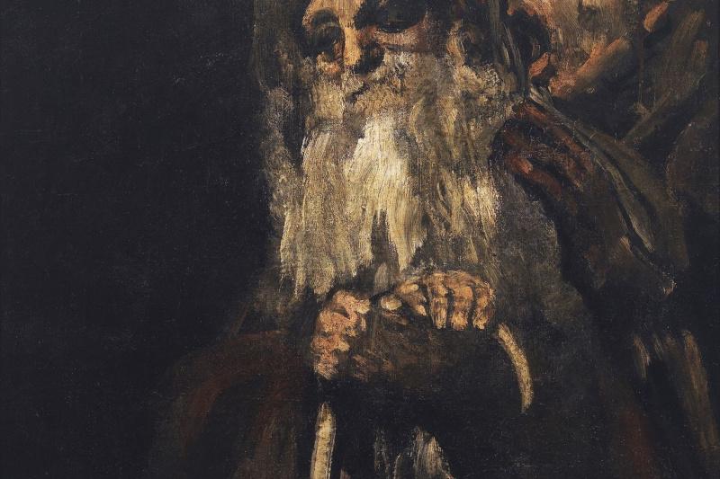 Francisco Goya. A series of gloomy paintings. Old men