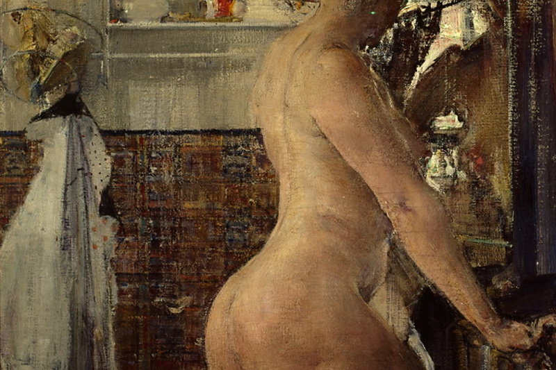Nikolay Feshin. Nude in the bathroom