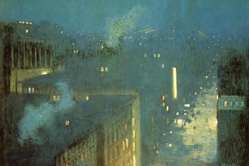 Julian Alden Weir. Nocturne, the Queensboro bridge