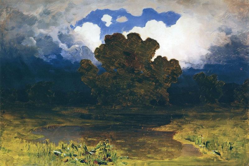 Arkhip Ivanovich Kuindzhi. Forest lake. Cloud