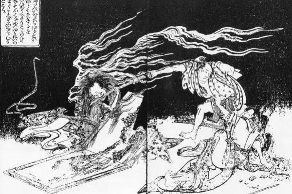Katsushika Hokusai. Onreux phenomenon on a winter night