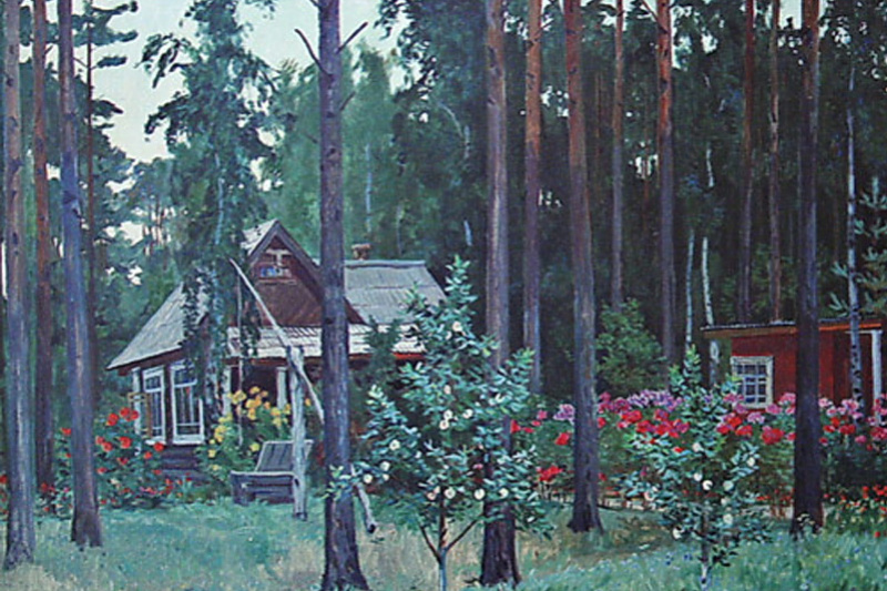 Alexander Alexandrovich Deineka. Evening at the cottage
