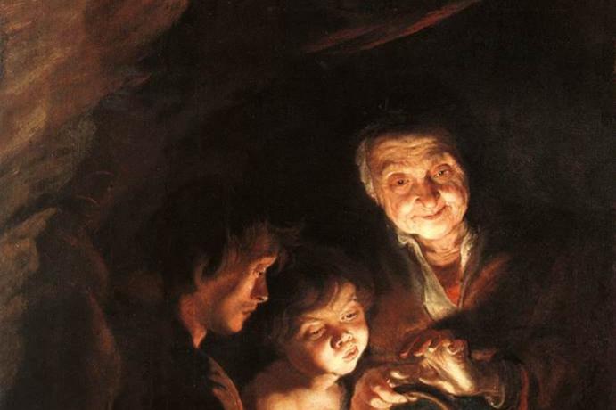 Питер Пауль Рубенс. Старуха с жаровней
