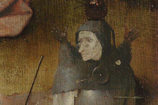 Hieronymus Bosch. Saint John on Patmos. Fragment