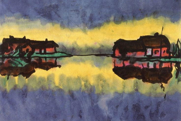 Emil Nolde. Farm flooded swamp