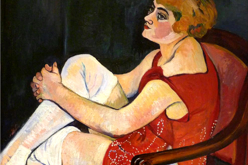Suzanne Valadon. Woman in white stockings