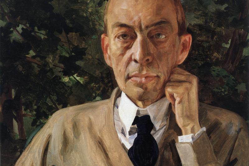 Constantin Somov. Portrait of the composer Sergei Rachmaninoff